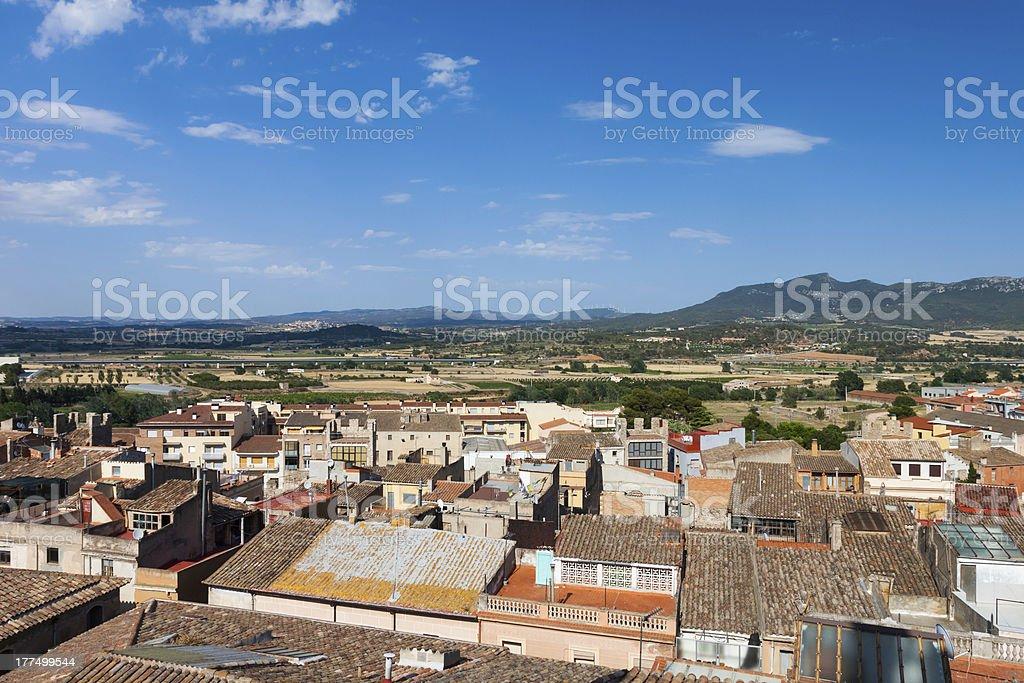 small Spanish town in  Catalonia stock photo