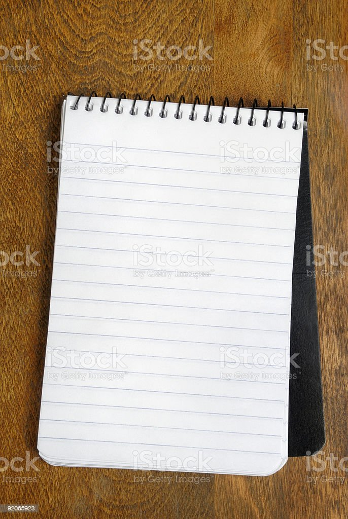 Small Spiral Notebook royalty-free stock photo