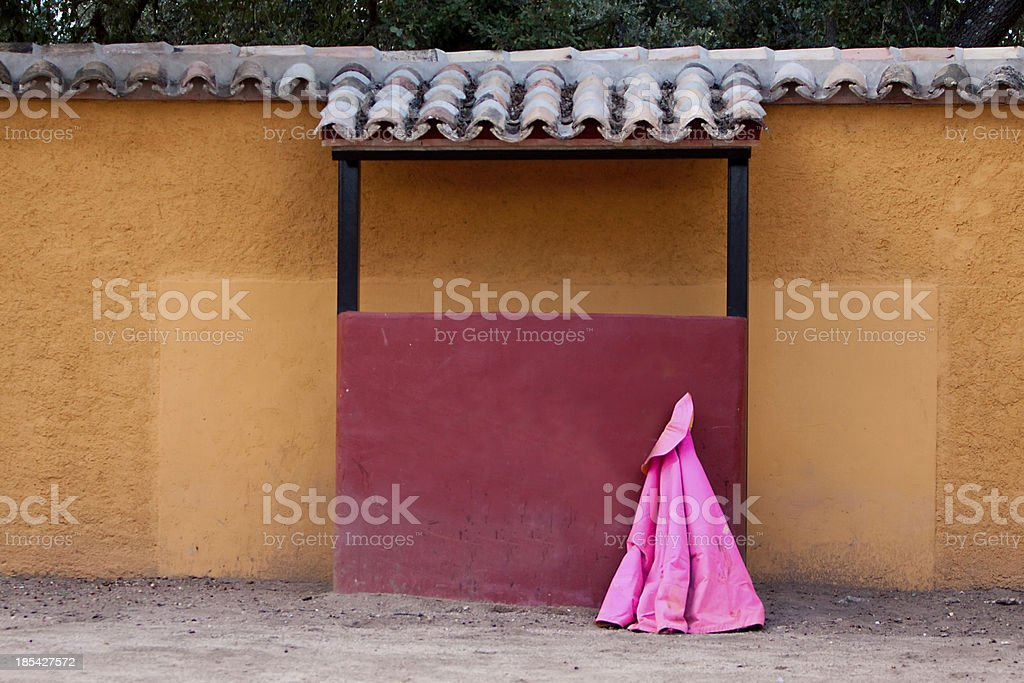 Small square of bulls or called tentadero stock photo