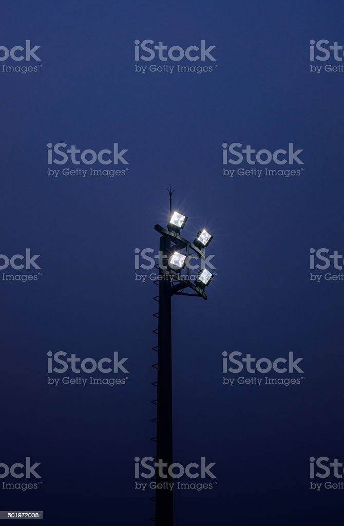 Small Stadium Lights stock photo