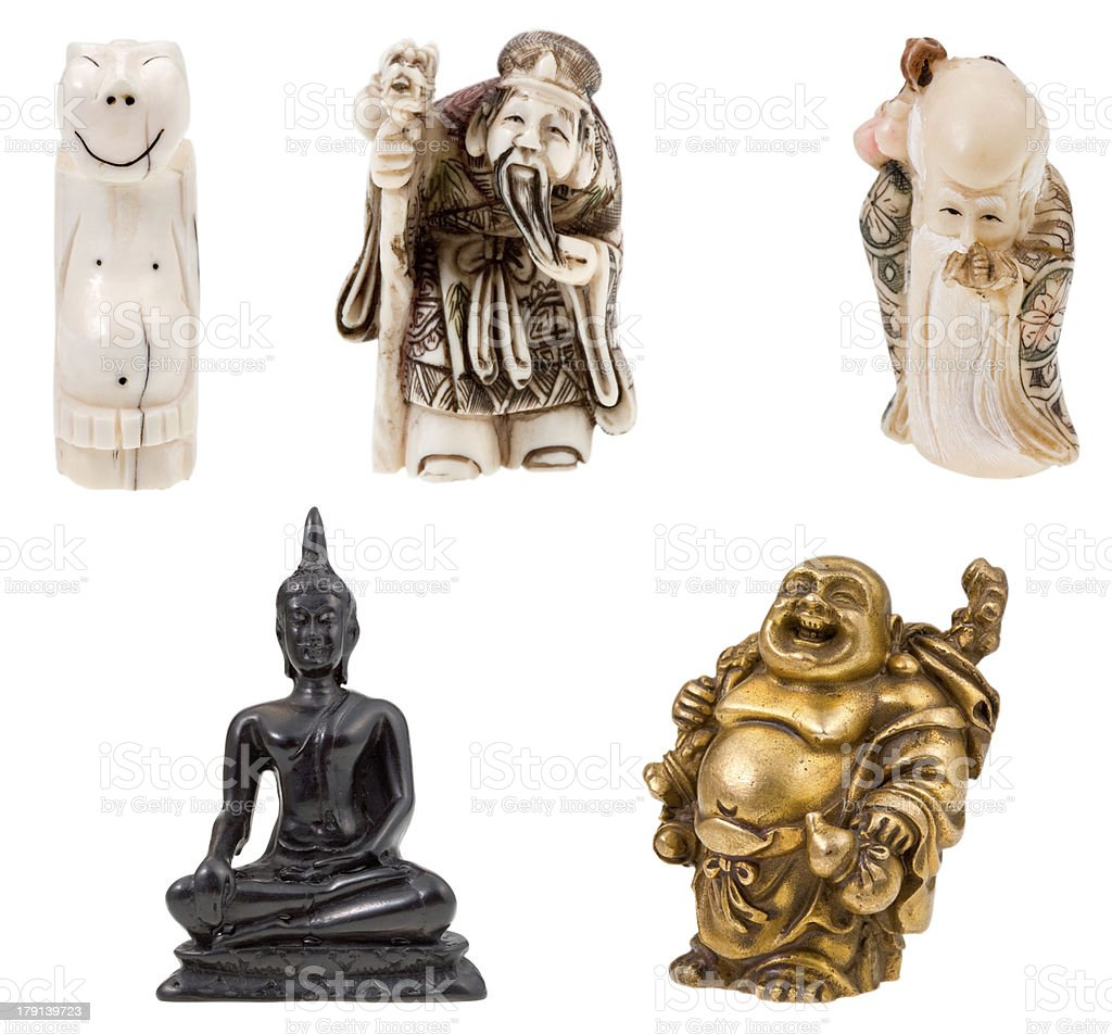 small statuettes royalty-free stock photo