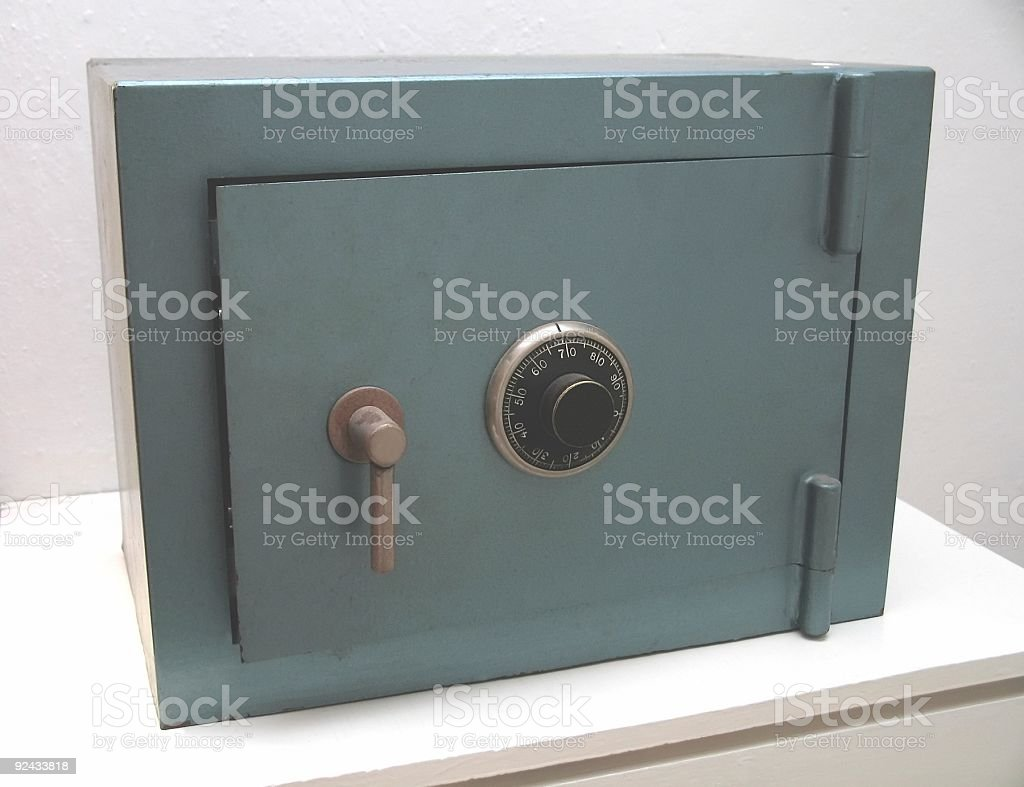 Small Steel Safe royalty-free stock photo