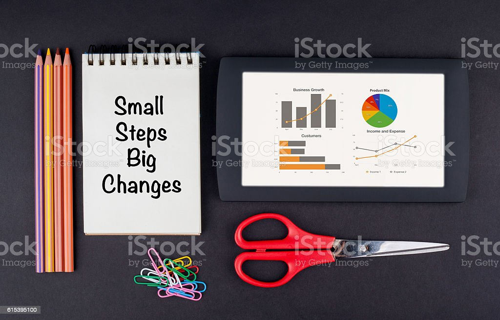 Small Steps Big Changes stock photo