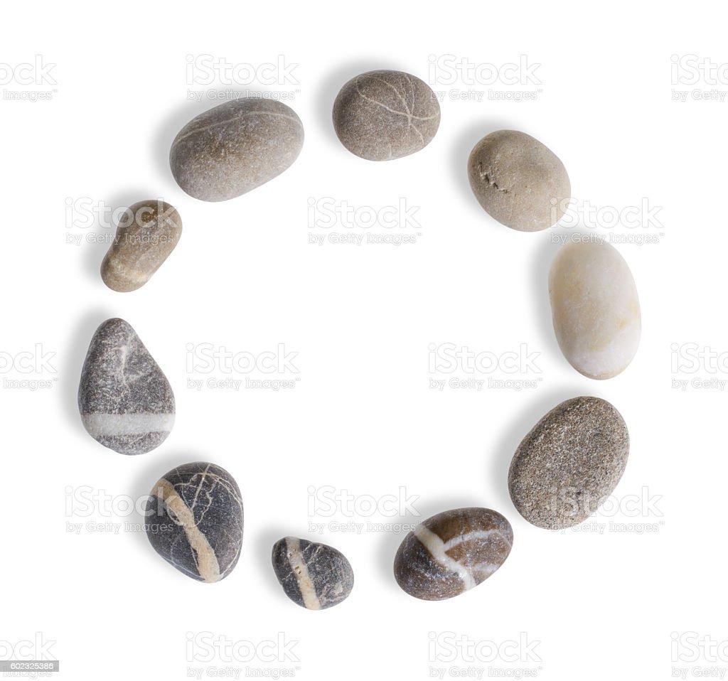 small stone circle stock photo