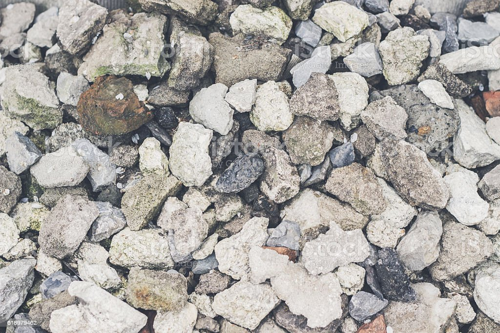 Small stones texture background stock photo
