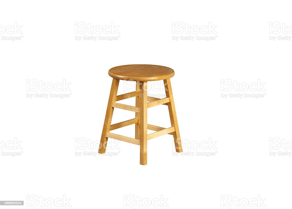 Small Stool in white background stock photo