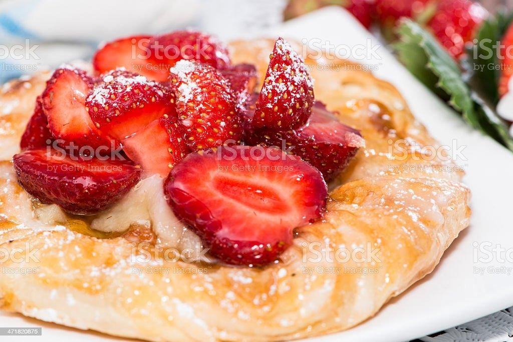 Small Strawberry Tart royalty-free stock photo