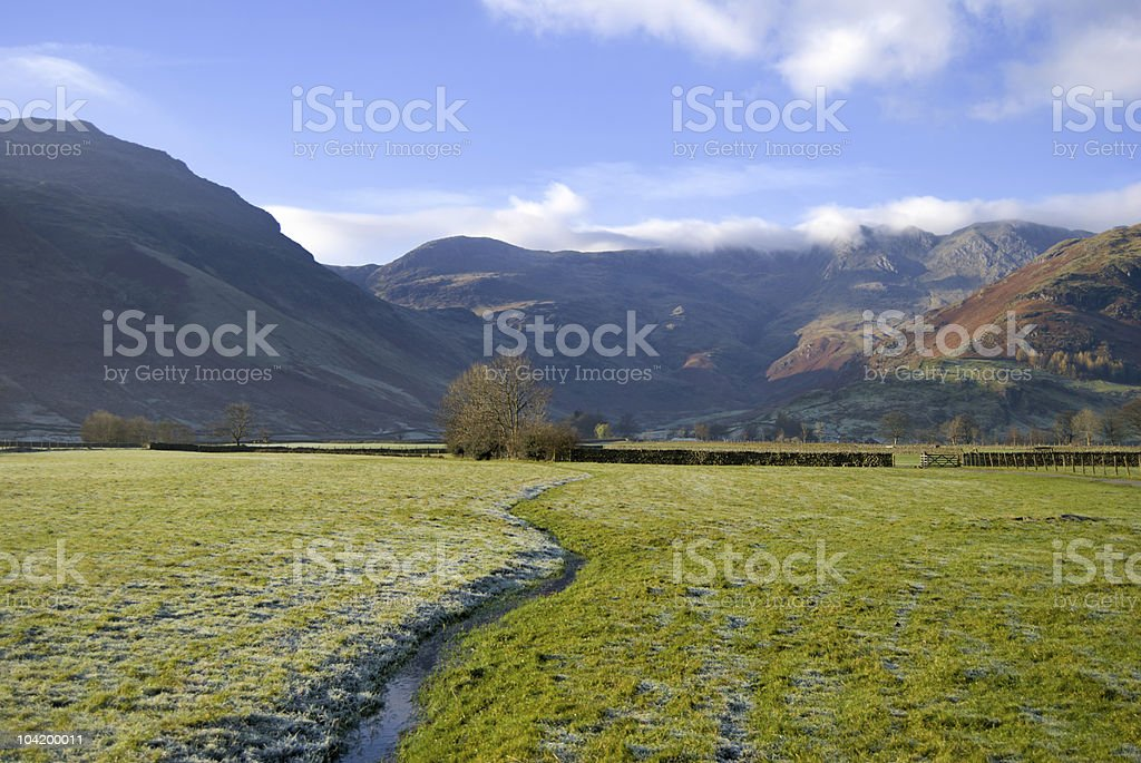 Small stream in Langdale stock photo