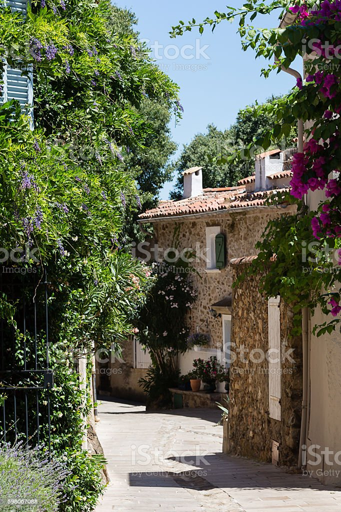 Small street in ancient city stock photo