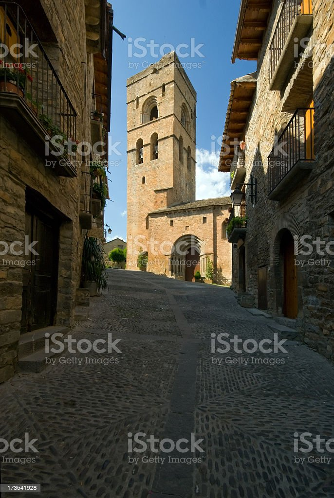 Small Street in A?nsa, Spain. royalty-free stock photo