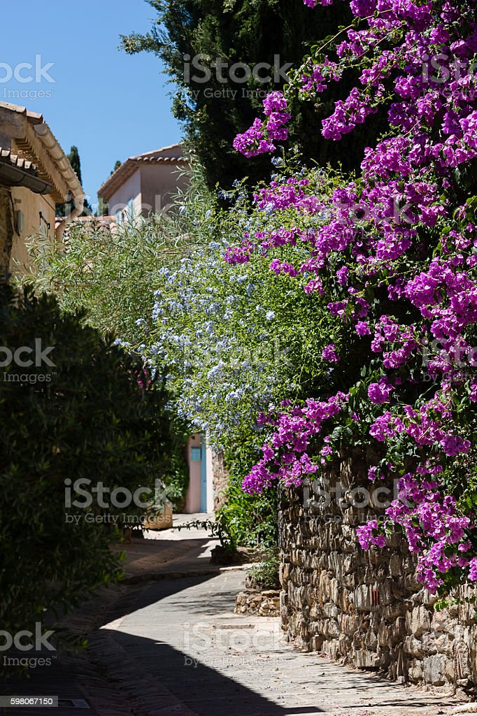 Small street in in an ancient city stock photo