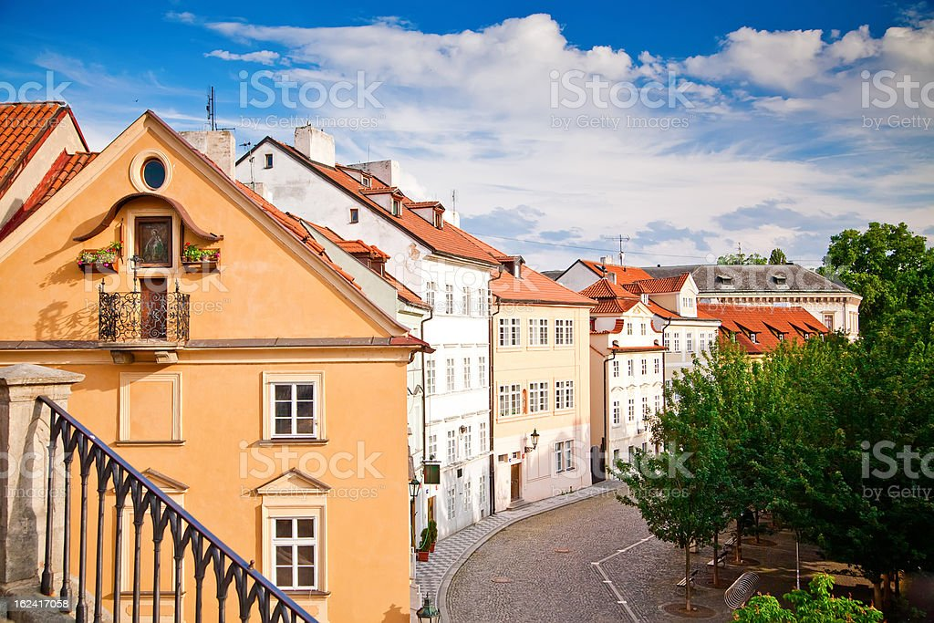 Small Street In Prague royalty-free stock photo