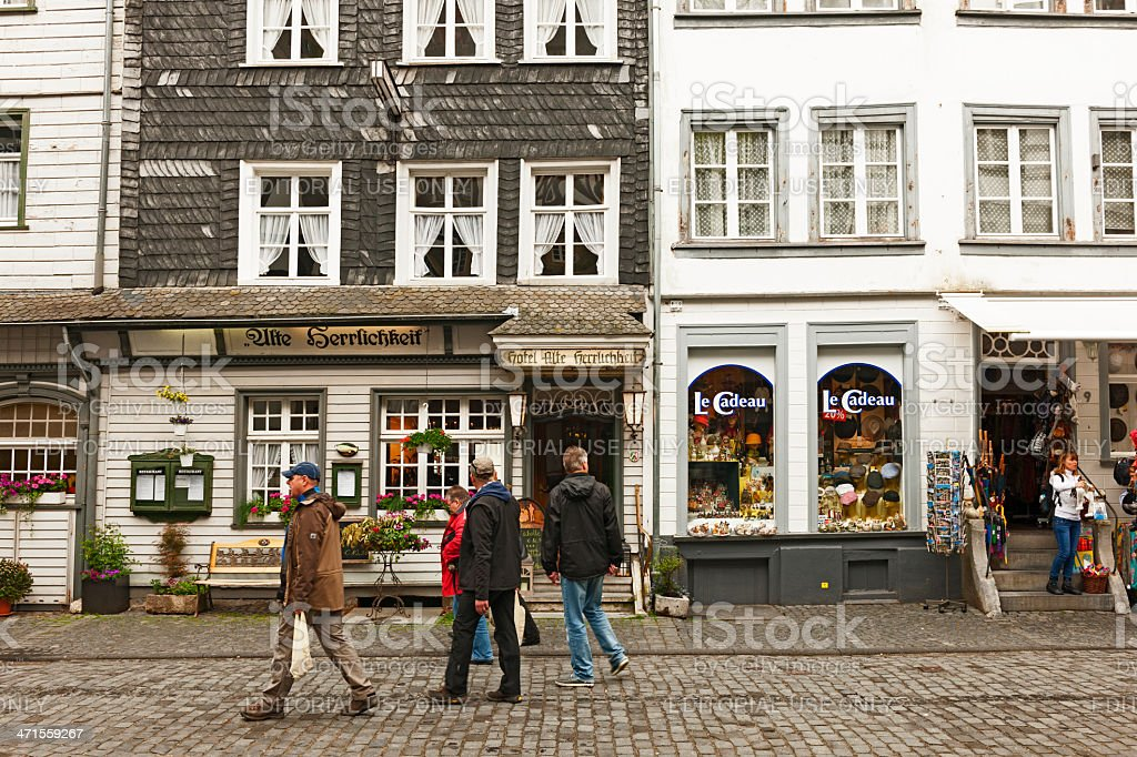 Small street of Monschau royalty-free stock photo