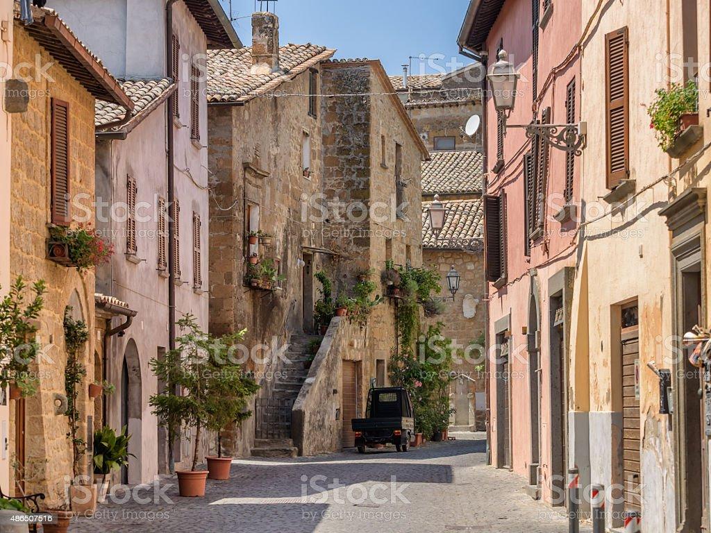 Small streets in Orvieto in Umbria stock photo
