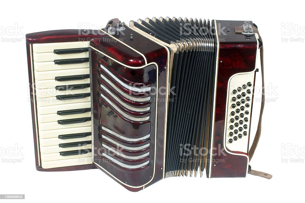 Small student accordion royalty-free stock photo