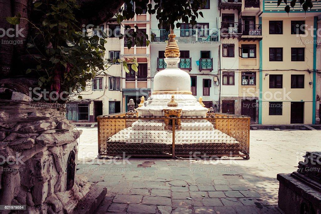 Small stupa in Kathmandu square, Nepal stock photo