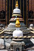 Small stupa in Kathmandu street, Nepal