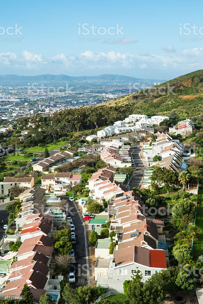 Small suburb on a hill royalty-free stock photo