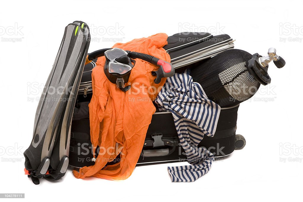 small suitcase royalty-free stock photo