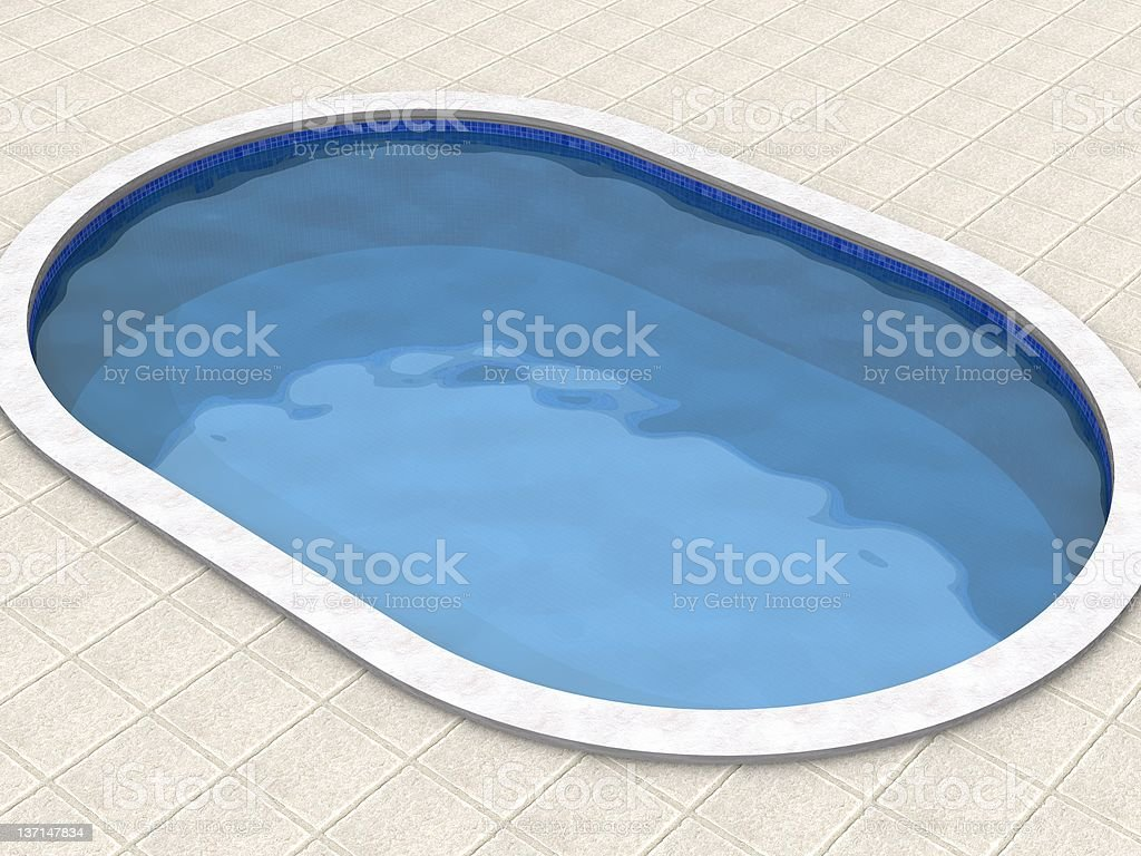 Small swimming pool royalty-free stock photo