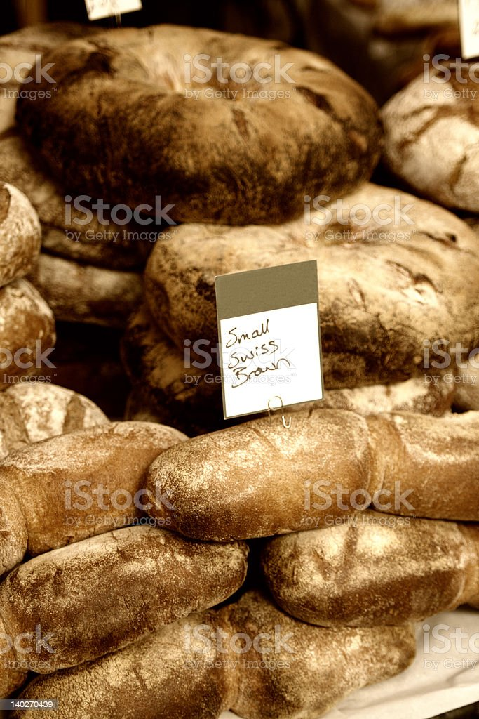 Small Swiss Brown Bread royalty-free stock photo