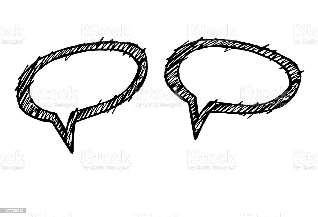 small talk - speech bubbles royalty-free stock photo