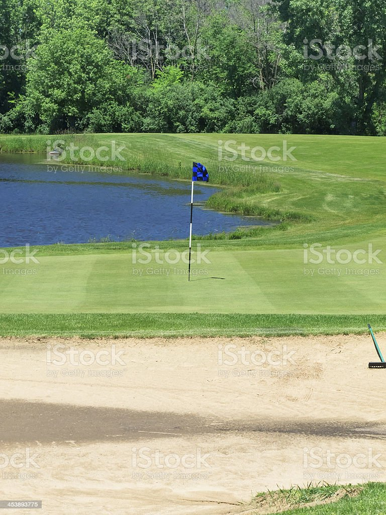 Small target on golf course royalty-free stock photo