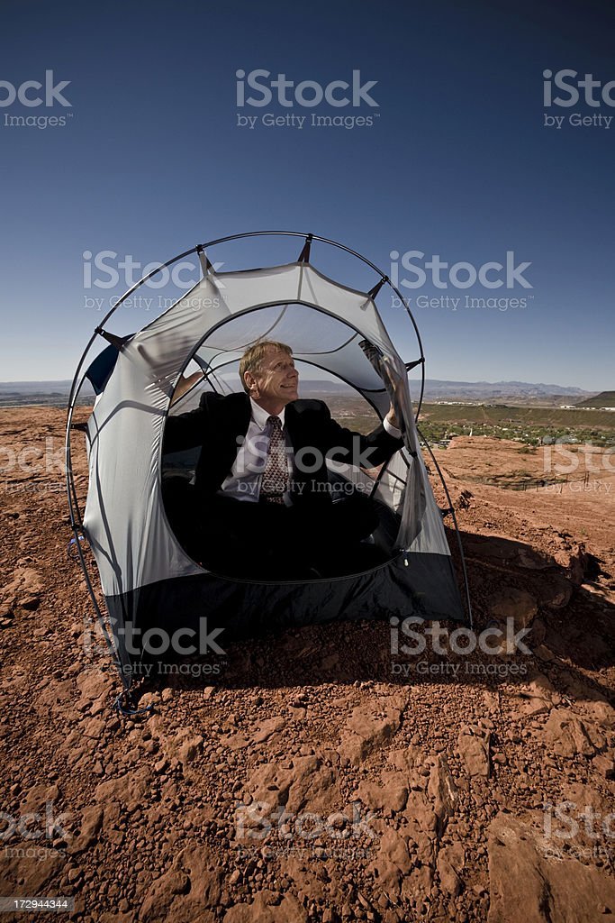 small tent royalty-free stock photo