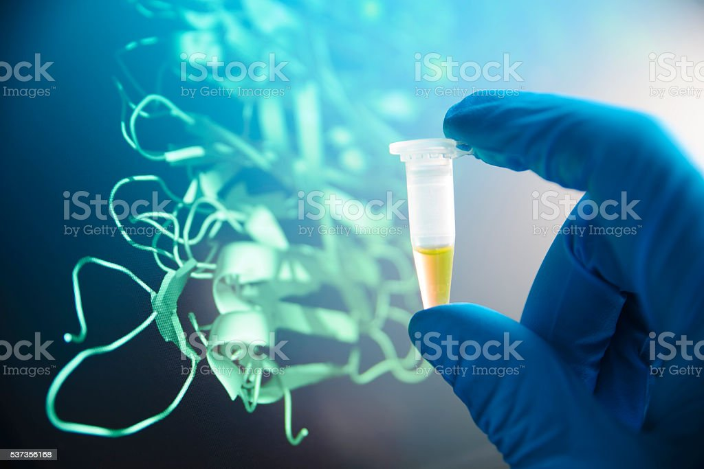 Small test tube stock photo