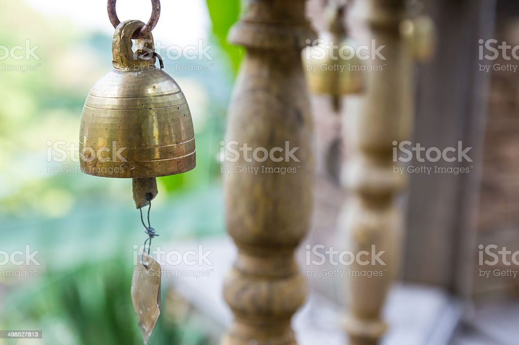 Small Thai style bell stock photo