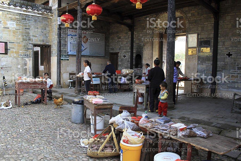 Piccolo mercato turistico Longnan, Cina foto stock royalty-free