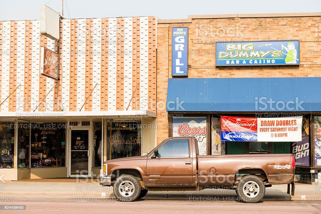 Small Town America Mitchell South Dakota Western USA Street Scene stock photo