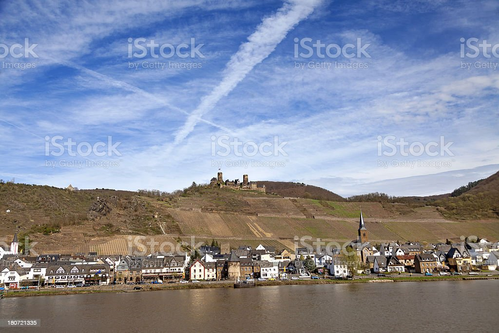 Small town by the Moselle River, Germany stock photo