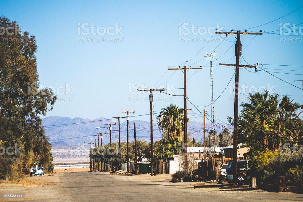Small town, California. stock photo