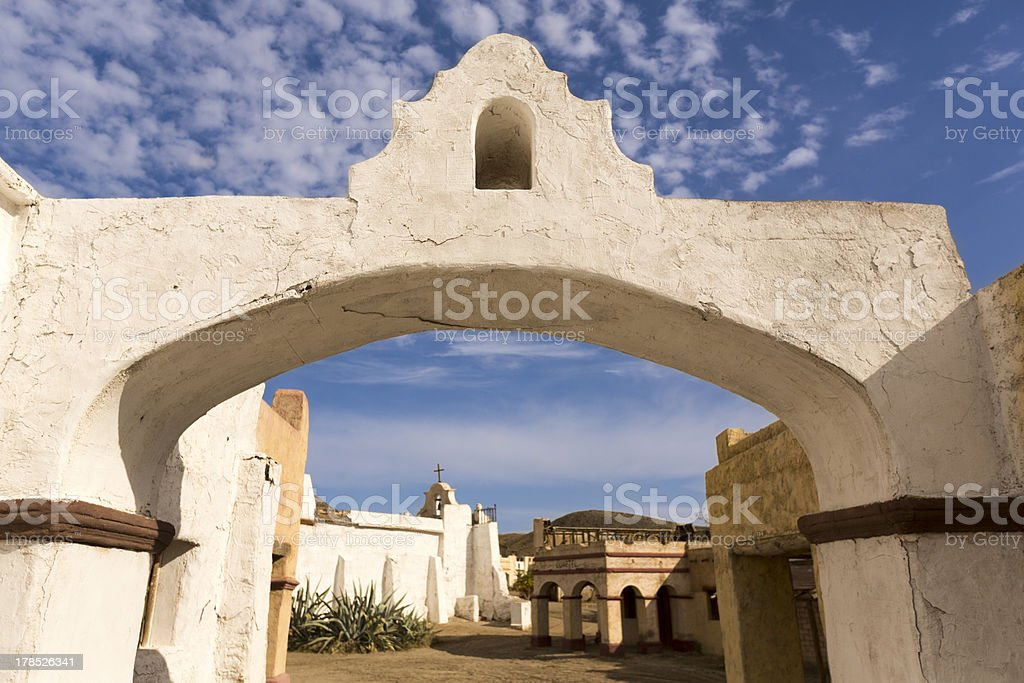 Small Town In Far West royalty-free stock photo