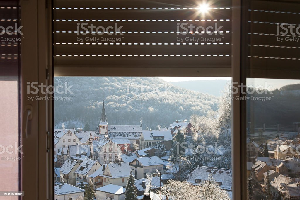 Small Town in Germany stock photo