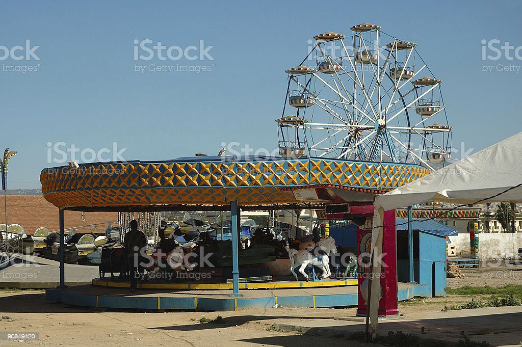 Small Town Luna Park royalty-free stock photo