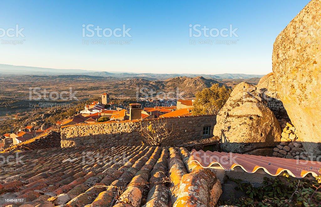 Small Town Monsanto in Portuguese Mountains royalty-free stock photo