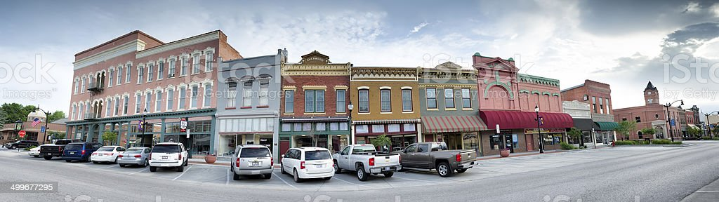 Small Town Panorama stock photo