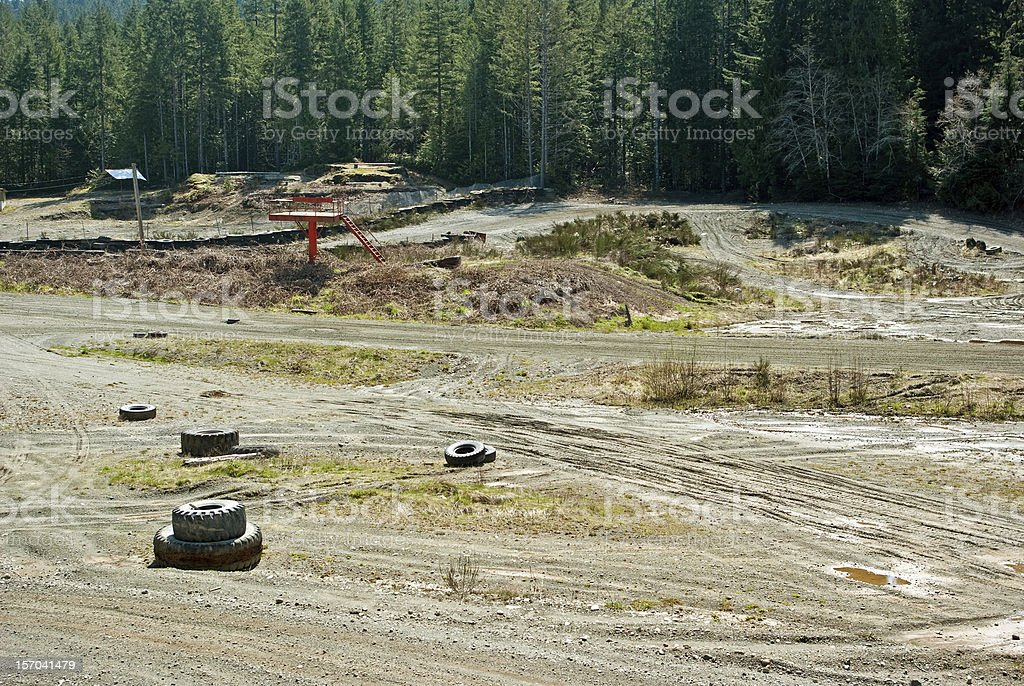 Small Town Race Track royalty-free stock photo