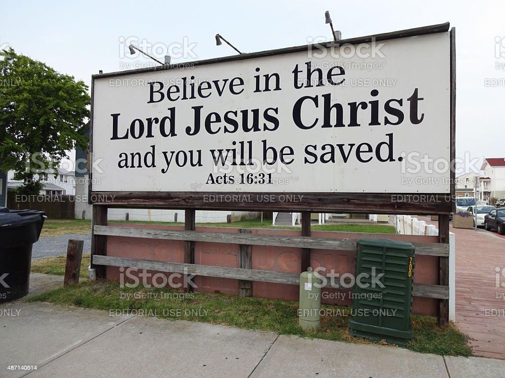 Small Town Religion stock photo