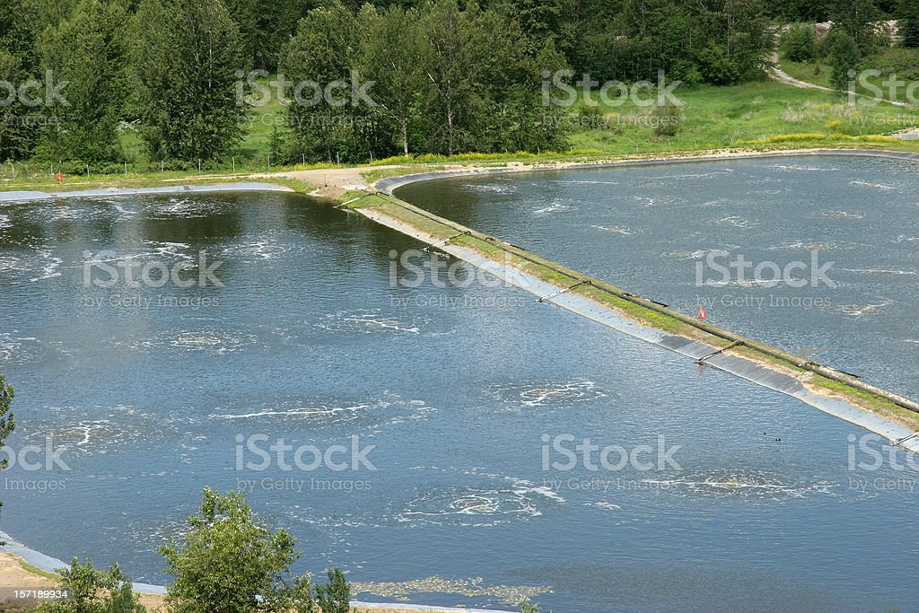 Small Town Sewage Water Treatment Plant royalty-free stock photo