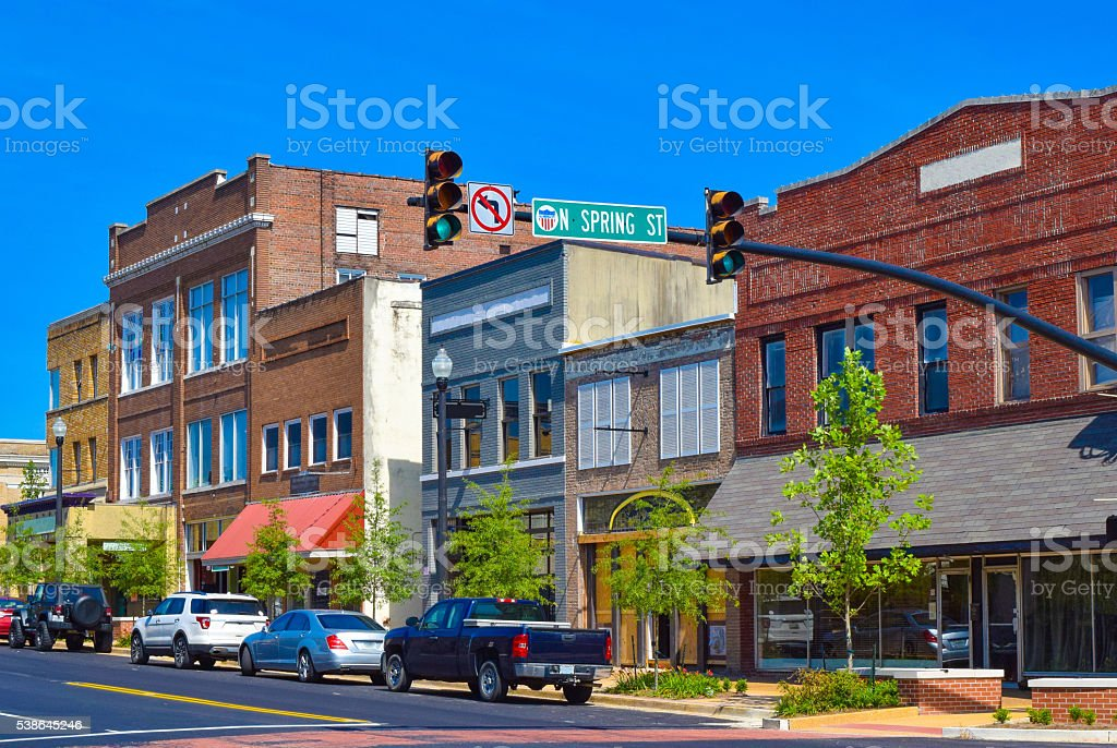 Small Town Shops stock photo