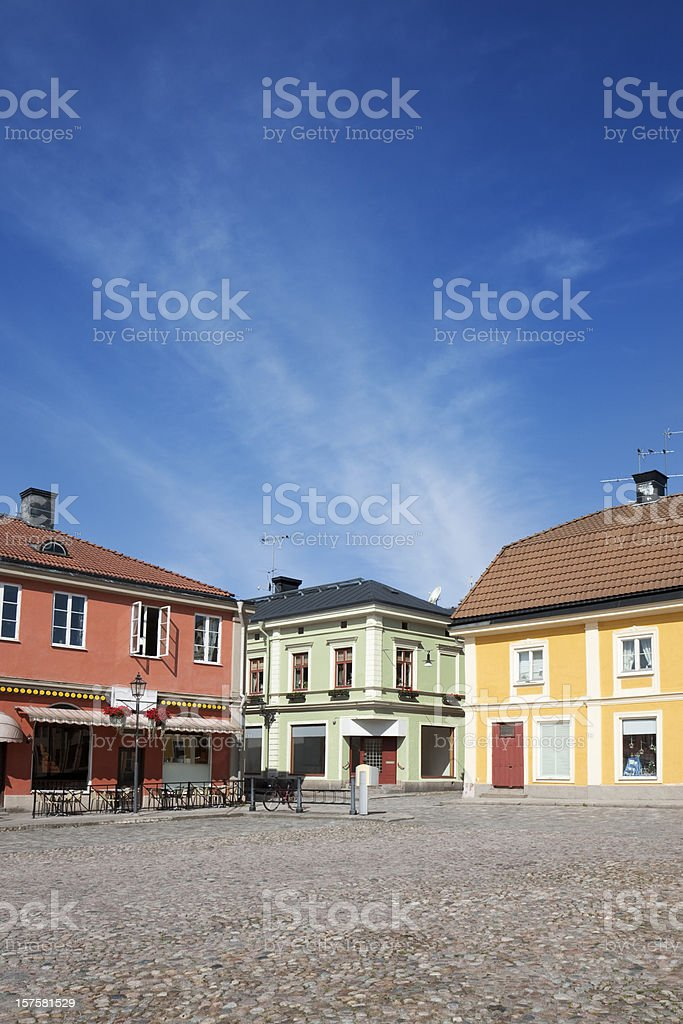 Small town square royalty-free stock photo