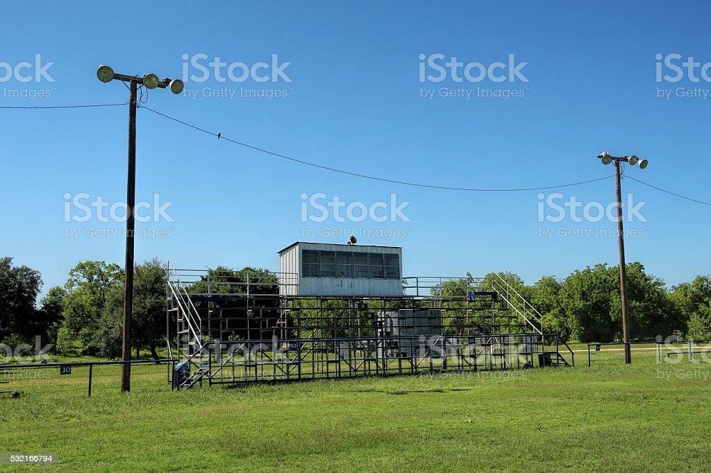 Small town stadium stock photo