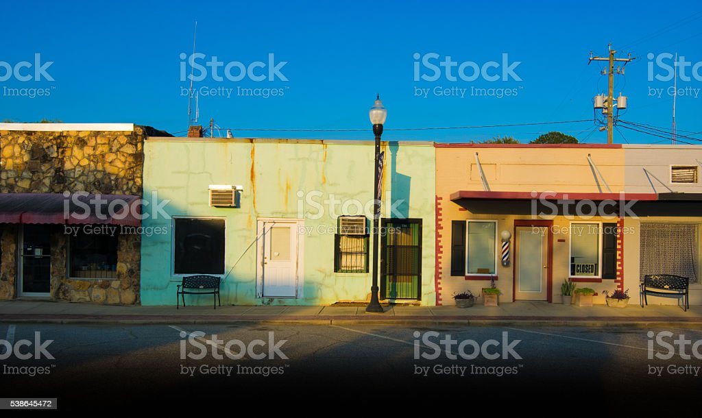 Small Town Storefronts stock photo