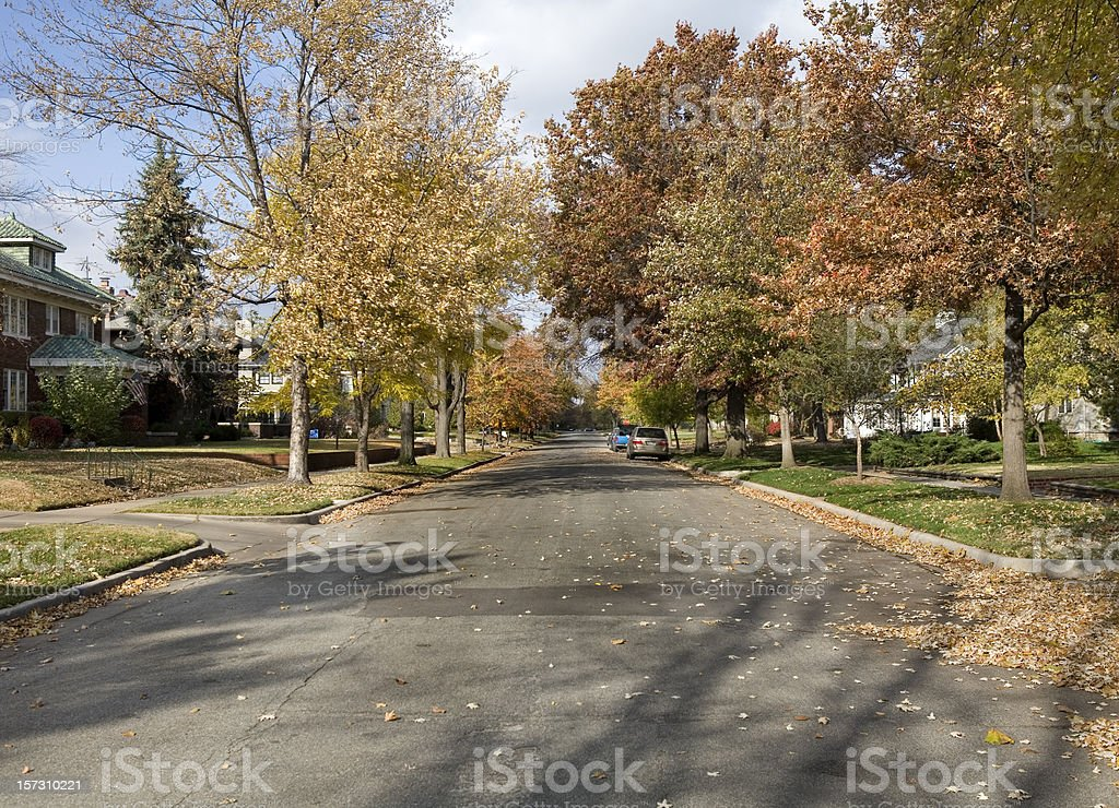 Small Town Street in Kansas royalty-free stock photo