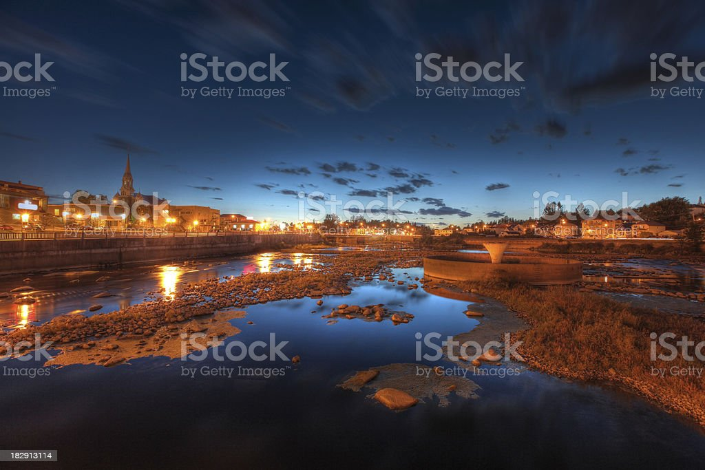 Small Town Sunset stock photo