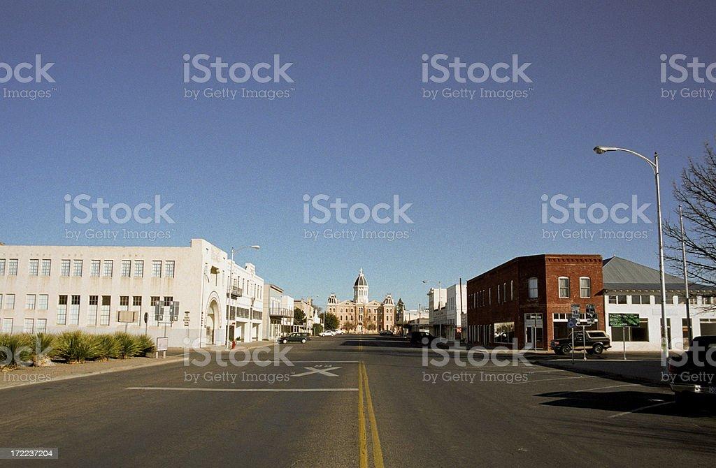 Small Town, USA  Marfa royalty-free stock photo