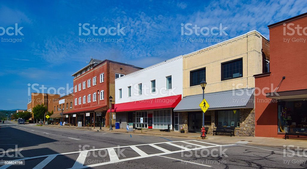 Small Town USA stock photo